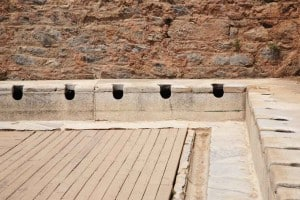 """The first known """"flush toilets"""" or latrines date back to the Roman Empire."""