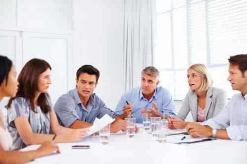 staff meeting