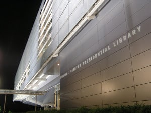 The William J. Clinton Presidential Library in Little Rock, Arkansas