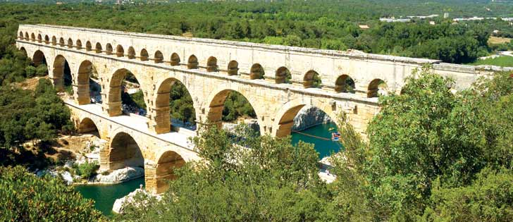 An old aqueduct that could have been used as part of an ancient plumbing system
