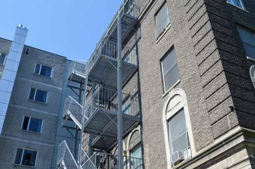 building with fire escape staircase