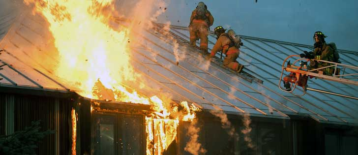 fire explosion experts investigate building fire