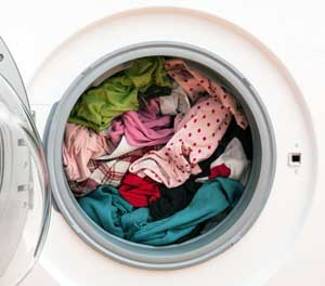 washing machine full of clothes