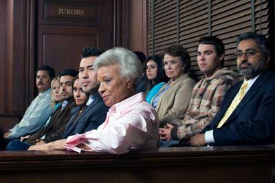 group of people in jury seats