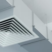white air conditioning vent in an office building