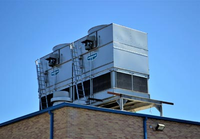 HVAC unit on top of a building